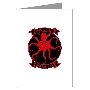 MALS11 - M01 - 02 - Marine Aviation Logistics Squadron 11 - Greeting Cards (Pk of 10)