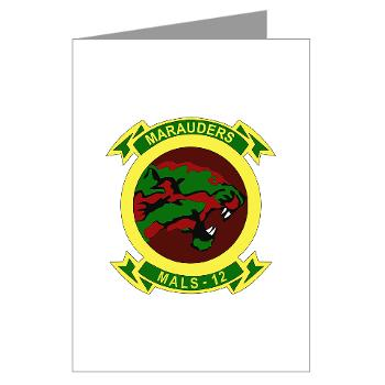 MALS12 - M01 - 02 - Marine Aviation Logistics Squadron 12th Greeting Cards (Pk of 20)