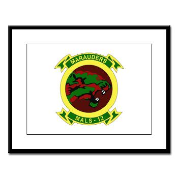 MALS12 - M01 - 02 - Marine Aviation Logistics Squadron 12th Large Framed Print