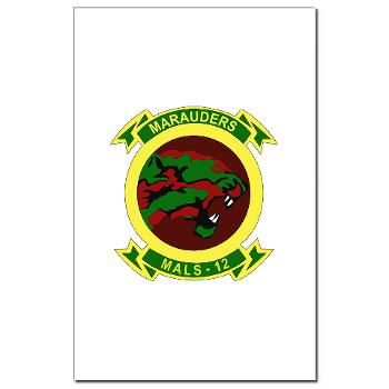 MALS12 - M01 - 02 - Marine Aviation Logistics Squadron 12th Mini Poster Print