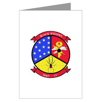 MALS13 - A01 - 01 - USMC - Marine Aviation Logistics Squadron 13 - Greeting Cards (Pk of 20)