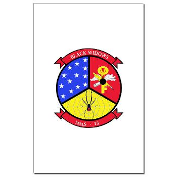 MALS13 - A01 - 01 - USMC - Marine Aviation Logistics Squadron 13 - Mini Poster Print