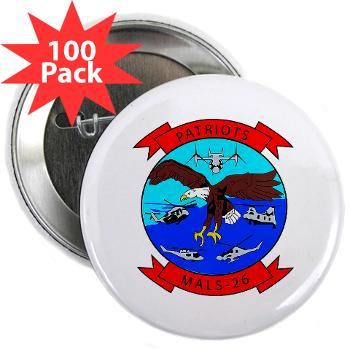 "MALS26O - M01 - 01 - Marine Aviation Logistics Squadron 26-OLD (MALS-26) - 2.25"" Button (100 pack)"