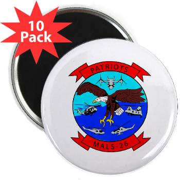 "MALS26O - M01 - 01 - Marine Aviation Logistics Squadron 26-OLD (MALS-26) - 2.25"" Magnet (10 pack)"