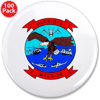 "MALS26O - M01 - 01 - Marine Aviation Logistics Squadron 26-OLD (MALS-26) - 3.5"" Button (100 pack)"