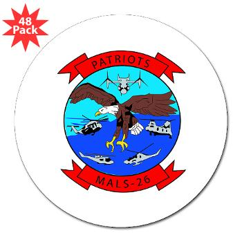 "MALS26O - M01 - 01 - Marine Aviation Logistics Squadron 26-OLD (MALS-26) - 3"" Lapel Sticker (48 pk)"