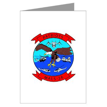 MALS26O - M01 - 02 - Marine Aviation Logistics Squadron 26-OLD (MALS-26) - Greeting Cards (Pk of 20)