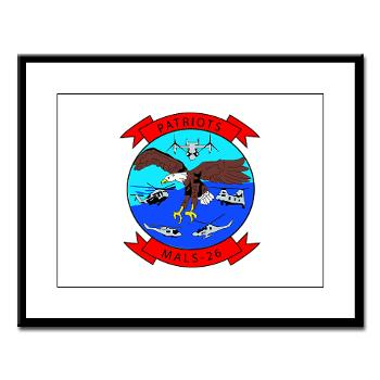 MALS26O - M01 - 02 - Marine Aviation Logistics Squadron 26-OLD (MALS-26) - Large Framed Print