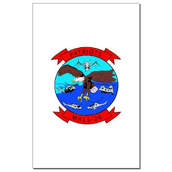 MALS26O - M01 - 02 - Marine Aviation Logistics Squadron 26-OLD (MALS-26) - Mini Poster Print