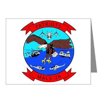 MALS26O - M01 - 02 - Marine Aviation Logistics Squadron 26-OLD (MALS-26) - Note Cards (Pk of 20)