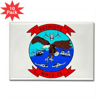 MALS26O - M01 - 01 - Marine Aviation Logistics Squadron 26-OLD (MALS-26) - Rectangle Magnet (10 pack)