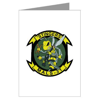 MALS31 - M01 - 02 - Marine Aviation Logistics Squadron 31 (MALS-31) Greeting Cards (Pk of 20)