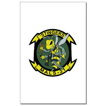 MALS31 - M01 - 02 - Marine Aviation Logistics Squadron 31 (MALS-31) Mini Poster Print