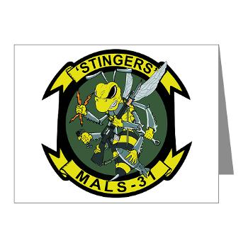 MALS31 - M01 - 02 - Marine Aviation Logistics Squadron 31 (MALS-31) Note Cards (Pk of 20)