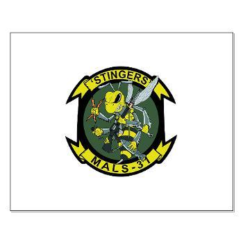 MALS31 - M01 - 02 - Marine Aviation Logistics Squadron 31 (MALS-31) Small Poster