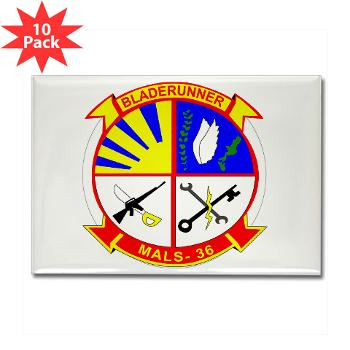 MALS36 - M01 - 01 - Marine Aviation Logistics Squadron 36 - Rectangle Magnet (10 pack)