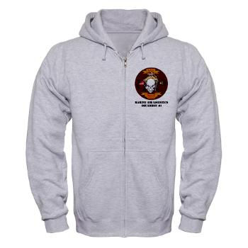 MALS40 - A01 - 03 - Marine Aviation Logistics Squadron 40 (MALS-40) with Text Zip Hoodie