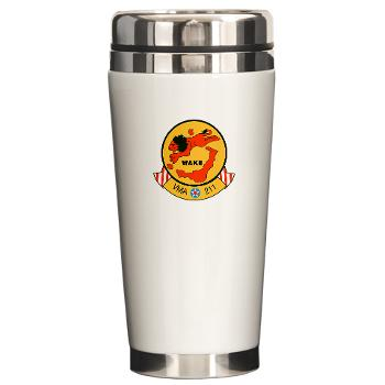 MAS211 - M01 - 03 - Marine Attack Squadron 211 Ceramic Travel Mug