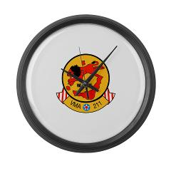 MAS211 - M01 - 03 - Marine Attack Squadron 211 Large Wall Clock