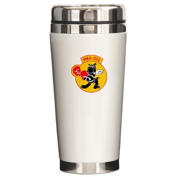 MAS223 - M01 - 03 - Marine Attack Squadron 223 (VMA-223) - Ceramic Travel Mug