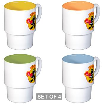 MAS223 - M01 - 03 - Marine Attack Squadron 223 (VMA-223) - Stackable Mug Set (4 mugs)