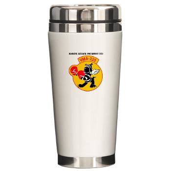 MAS223 - M01 - 03 - Marine Attack Squadron 223 (VMA-223) with Text - Ceramic Travel Mug