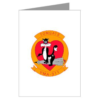 MAS311 - M01 - 02 - Marine Attack Squadron 311 Greeting Cards (Pk of 10)