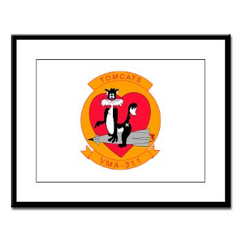 MAS311 - M01 - 02 - Marine Attack Squadron 311 Large Framed Print