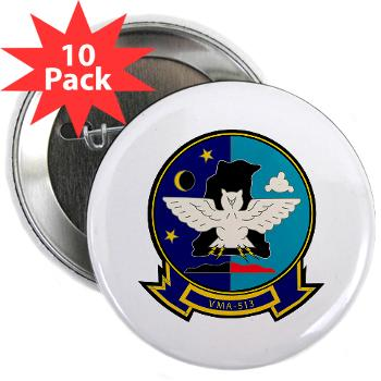 "MAS513 - M01 - 01 - Marine Attack Squadron 513 - 2.25"" Button (10 pack)"