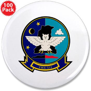 "MAS513 - M01 - 01 - Marine Attack Squadron 513 - 3.5"" Button (100 pack)"