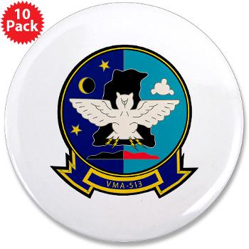 "MAS513 - M01 - 01 - Marine Attack Squadron 513 - 3.5"" Button (10 pack)"