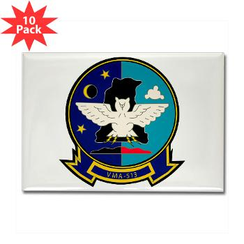 MAS513 - M01 - 01 - Marine Attack Squadron 513 - Rectangle Magnet (10 pack)
