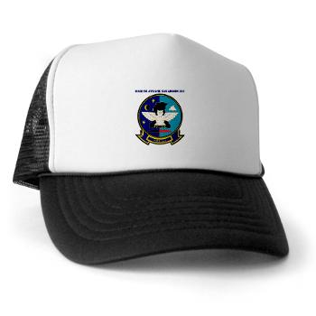 MAS513 - A01 - 02 - Marine Attack Squadron 513 with Text - Trucker Hat