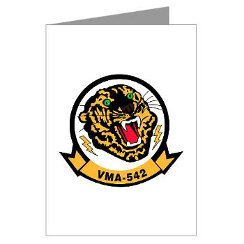MAS542 - M01 - 02 - Marine Attack Squadron 542 (VMA-542) - Greeting Cards (Pk of 20)