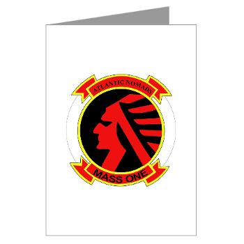 MASS1 - M01 - 02 - Marine Air Support Squadron 1 (MASS-1) - Greeting Cards (Pk of 10)