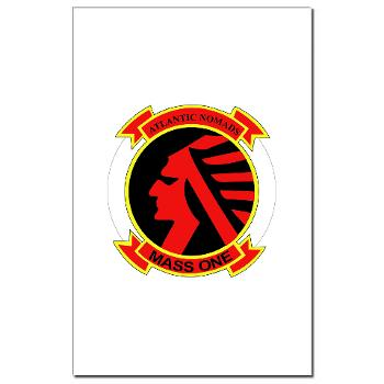 MASS1 - M01 - 02 - Marine Air Support Squadron 1 (MASS-1) - Mini Poster Print