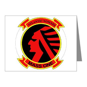 MASS1 - M01 - 02 - Marine Air Support Squadron 1 (MASS-1) - Note Cards (Pk of 20)