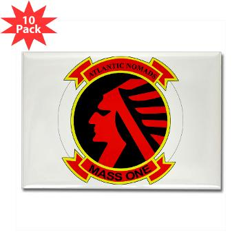 MASS1 - M01 - 01 - Marine Air Support Squadron 1 (MASS-1) - Rectangle Magnet (10 pack)