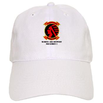 MASS1 - A01 - 01 - Marine Air Support Squadron 1 (MASS-1) with Text - Cap