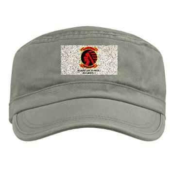 MASS1 - A01 - 01 - Marine Air Support Squadron 1 (MASS-1) with Text - Military Cap