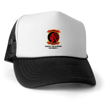 MASS1 - A01 - 02 - Marine Air Support Squadron 1 (MASS-1) with Text - Trucker Hat