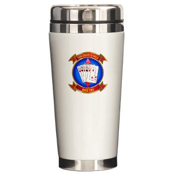 MASS2 - M01 - 03 - Marine Air Support Squadron 2 Ceramic Travel Mug