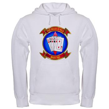 MASS2 - A01 - 03 - Marine Air Support Squadron 2 Hooded Sweatshirt