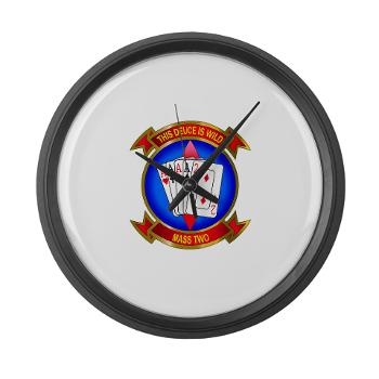 MASS2 - M01 - 03 - Marine Air Support Squadron 2 Large Wall Clock