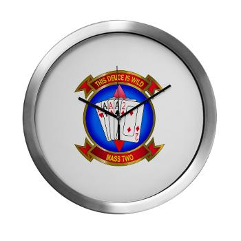 MASS2 - M01 - 03 - Marine Air Support Squadron 2 Modern Wall Clock