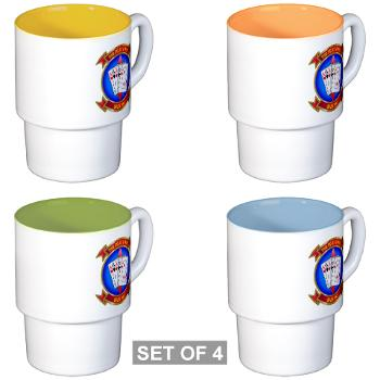 MASS2 - M01 - 03 - Marine Air Support Squadron 2 Stackable Mug Set (4 mugs)
