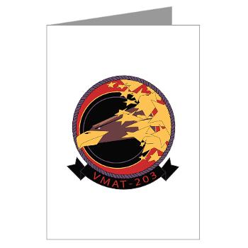 MATS203 - M01 - 02 - Marine Attack Training Squadron 203 (VMAT-203) - Greeting Cards (Pk of 10)