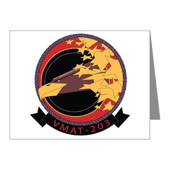 MATS203 - M01 - 02 - Marine Attack Training Squadron 203 (VMAT-203) - Note Cards (Pk of 20)