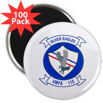 "MAWFAS115 - M01 - 01 - Marine Fighter Attack Squadron 115 (VMFA-115) - 2.25"" Magnet (100 pack)"