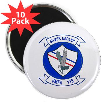 "MAWFAS115 - M01 - 01 - Marine Fighter Attack Squadron 115 (VMFA-115) - 2.25"" Magnet (10 pack)"